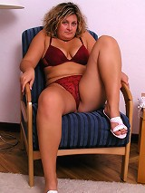 Nasty chubby mature ready for sex