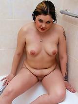 Cute chubby princess pleasuring herself in the tub
