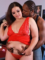 Paige Pretty is hunting for a new recruit to show her husband how she loves getting some belly play. She finds her stud playing pool and attracts him